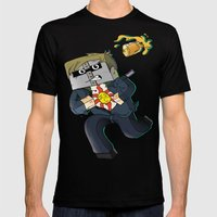 Solaire of Block - Minecraft Avatar Mens Fitted Tee Black SMALL