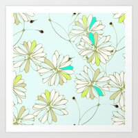 Breezy Floral Art Print