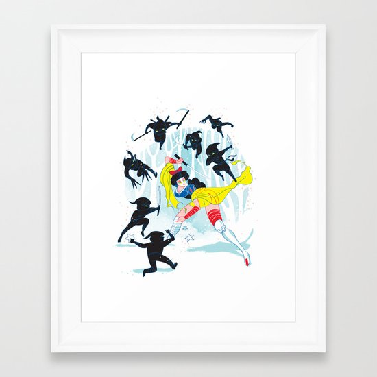 Tales of a Snow Geisha Framed Art Print