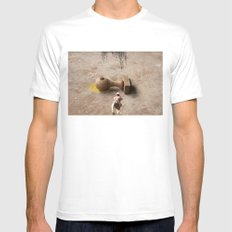 Kill Bureaucracy SMALL White Mens Fitted Tee