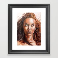 A BLACK BEAUTY     By Da… Framed Art Print
