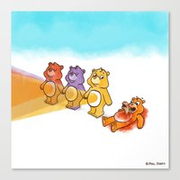 Care Bear Ahhhhh Canvas Print