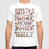 Devil's Tools Mens Fitted Tee White SMALL