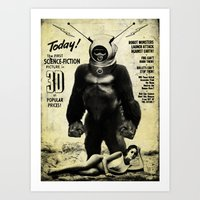 Robot Monster Art Print