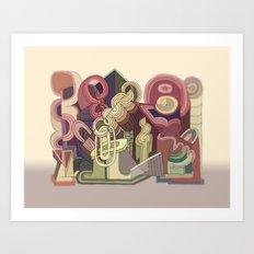Abstract Drawing 9507 Art Print
