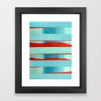 Blue Edge Framed Art Print