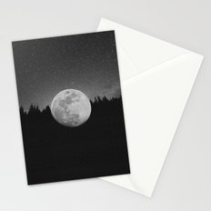 The Moon Landed – Black and White Stationery Cards