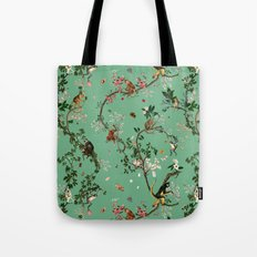 Monkey World Green Tote Bag