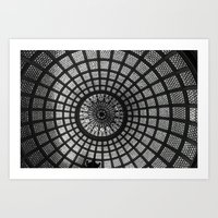 Tiffany Glass Dome Black… Art Print