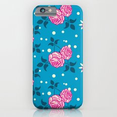 Roses on blue Slim Case iPhone 6s