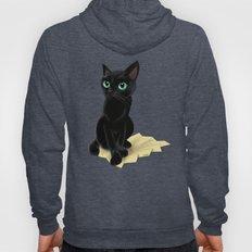 Black little kitty Hoody