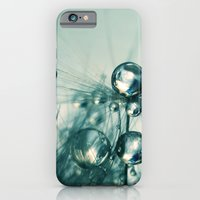 iPhone & iPod Case featuring One Seed with Blue Drops by Sharon Johnstone