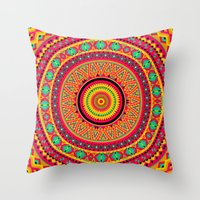 Indian Mandala Throw Pillow