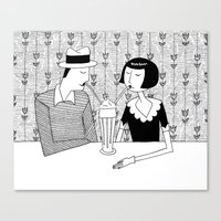 They shared a chocolate shake and some dreams Canvas Print