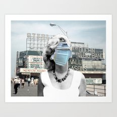 Marilyn meets Atlantic City Art Print