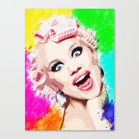 CURLERS Canvas Print