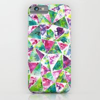 iPhone & iPod Case featuring COLLAGE LOVE: Funky Triangles by Elephant Trunk Studio