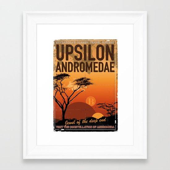 My Exoplanetary Travel Poster: Upsilon Andromedae B Framed Art Print