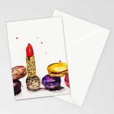 Lipstick and Macaroon's  Stationery Cards