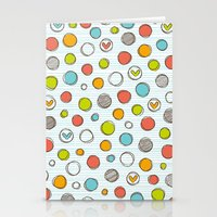 Another pattern with hearts. Stationery Cards