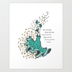 Imaginary Friends Are The Best Friends Art Print