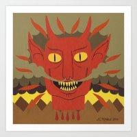 Devil's Head Art Print