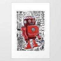 Robot Flux Art Print
