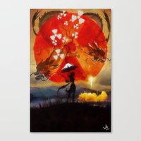 Umbrellaliensunshine: Sp… Canvas Print