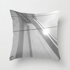 Bridge in Ludwigshafen, Germany. Throw Pillow