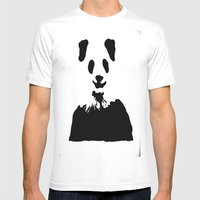Pandas Blend Into White … Mens Fitted Tee White SMALL