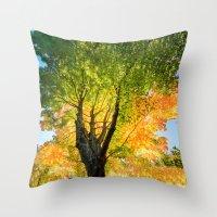 Blushing Fall Throw Pillow