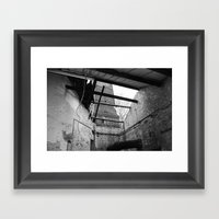 Decay- roof Framed Art Print