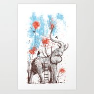 Art Print featuring A Happy Place by Norman Duenas