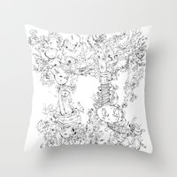 Pasolini`s Garden Throw Pillow