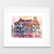 Apartment House In Pozna… Framed Art Print