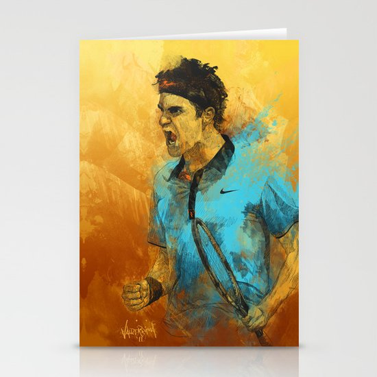 Roger Federer Stationery Card