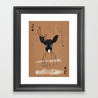 JACK OF SPADES Framed Art Print