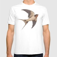Barn Swallow Mens Fitted Tee White SMALL
