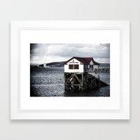 The Old Boathouse. Framed Art Print