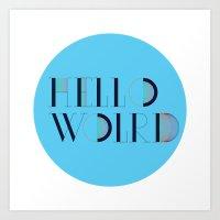 Hello World | Comp Sci S… Art Print