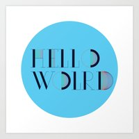 Hello World | Comp Sci Series Art Print