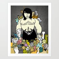 138 Cats Art Print