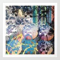 YOSEMITE/ STRIPES Art Print