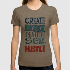 Everyday Womens Fitted Tee Tri-Coffee SMALL