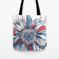 Flower Patterns On White Tote Bag