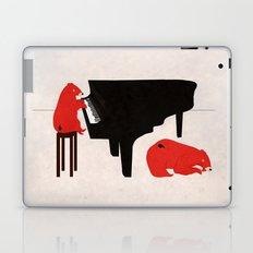 A Sleepy bear playing piano Laptop & iPad Skin