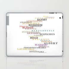 Word Inventions William Shakespeare Quote Art - Typography Laptop & iPad Skin
