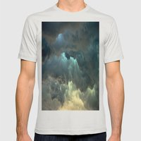 Seeing Thunder Mens Fitted Tee Silver SMALL
