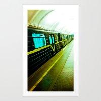 The City Subway. Art Print