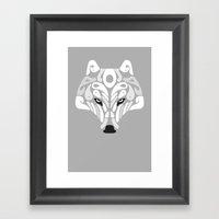 Ice Predator (Grey) Framed Art Print